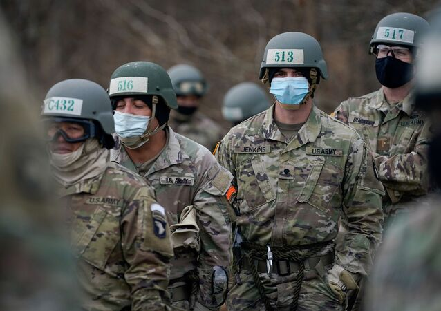 Soldiers at the U.S. Army Air Assault School conduct training while adhering to coronavirus disease (COVID-19) recommendations, at Fort Campbell, Kentucky, U.S. December 3, 2020.