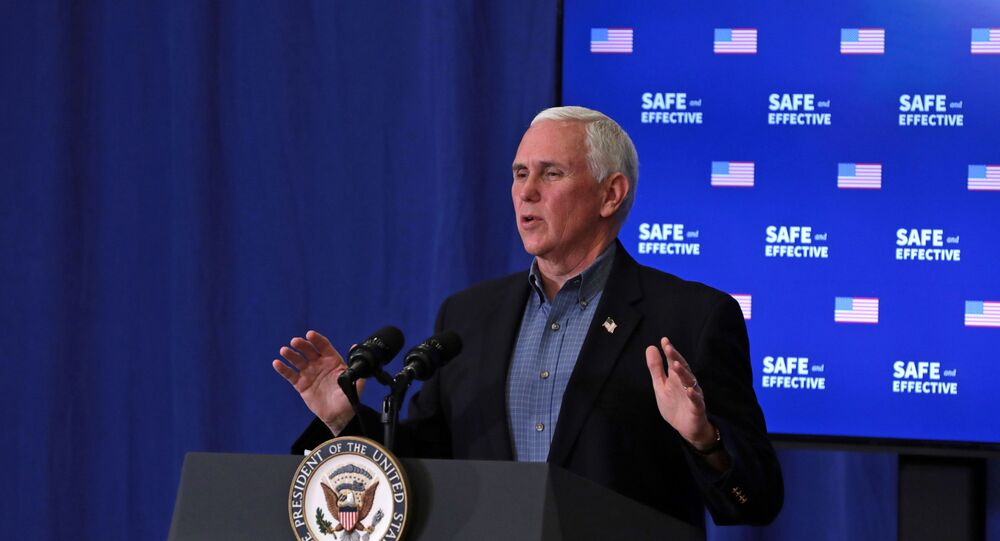 U.S. Vice President Mike Pence speaks after receiving the coronavirus disease (COVID-19) vaccine at the White House in Washington, U.S., December 18, 2020.