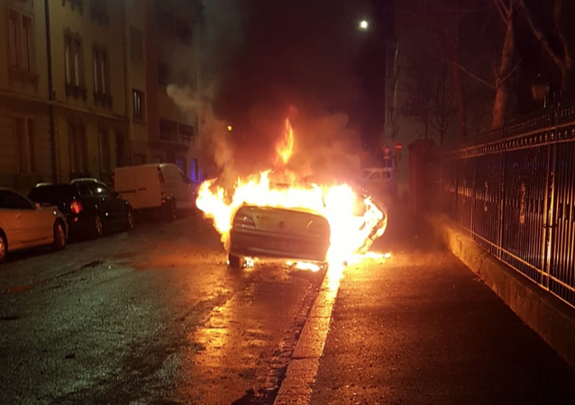 One of over 30 cars burned on New Year's Eve 2021 in France's Strasbourg