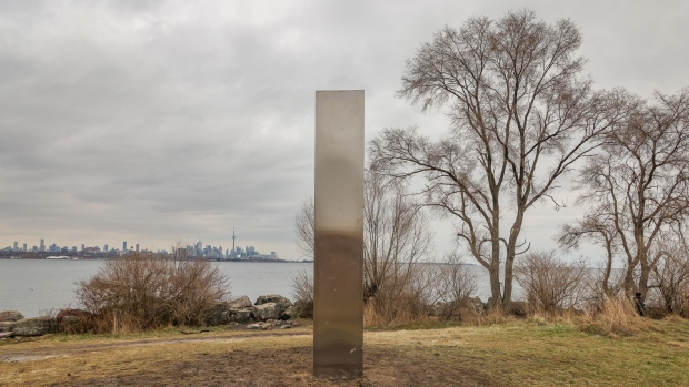 A mysterious monolith in Toronto, Canada