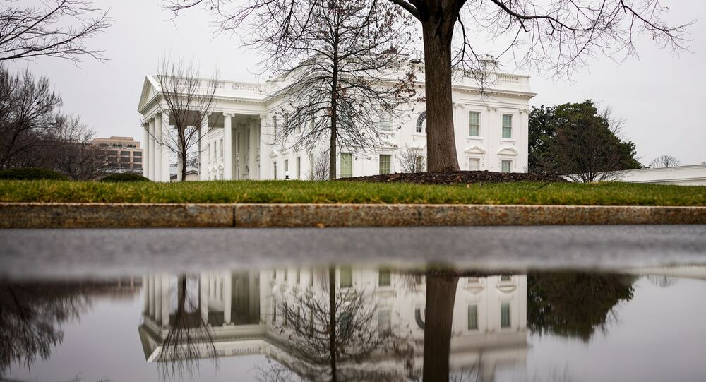 The White House is seen on the day when the Senate handed US President Donald Trump the first veto override of his presidency, passing the National Defense Authorisation Act (NDAA) in Washington DC, 1 January 2021