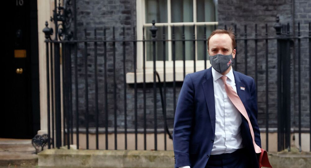Britain's Health Secretary Matt Hancock leaves Downing Street, in London, Britain, January 4, 2021.