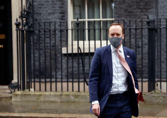 Britain's Health Secretary Matt Hancock leaves Downing Street, in London, Britain, January 4, 2021.