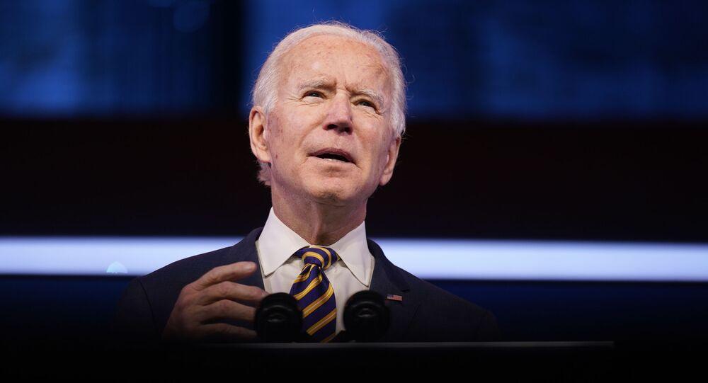 President-elect Joe Biden speaks at The Queen Theater, Tuesday, 29 December 2020, in Wilmington, Delaware.