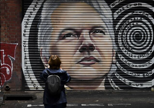 A mural of Australia's Julian Assange is seen in a laneway in Melbourne on January 5, 2021, after a judge in London ruled that the WikiLeaks founder should not be extradited to the US to face espionage charges for publishing hundreds of thousands of classified military and diplomatic documents in 2010.