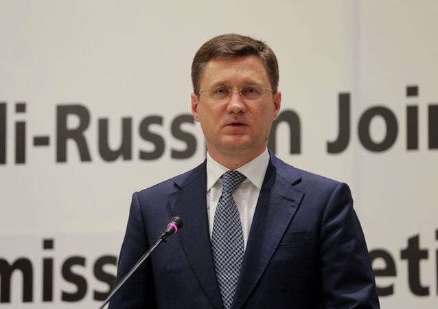 Russian Energy Minister Alexander Novak speaks during a joint press conference with Saudi Energy Minister, Prince Abdulaziz bin Salman al-Saud (not pictured) at the Ritz-Carlton Hotel in Riyadh, Saudi Arabia December 19, 2020.