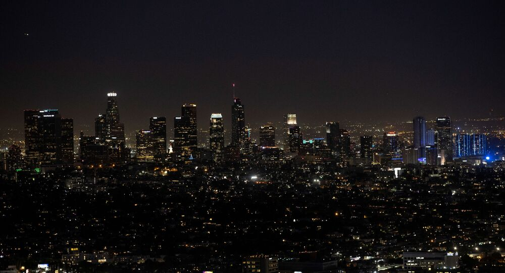 A view of the downtown skyline from Griffith Observatory during a partial lockdown amid the outbreak of the coronavirus disease (COVID-19), in Los Angeles, California, U.S., December 7, 2020.