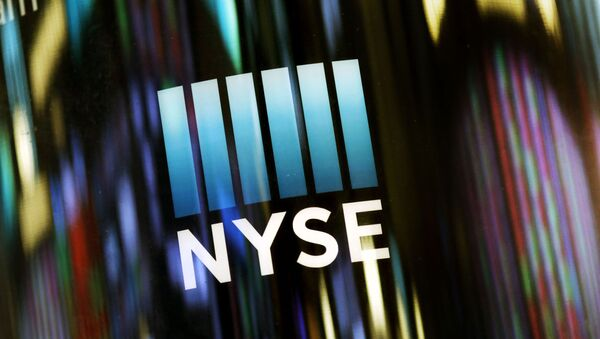 FILE - In this May 13, 2019 file photo, the NYSE logo is displayed at the New York Stock Exchange. U.S. stocks edged higher in early trading on Wall Street Monday, June 17, following two weeks of gains. (AP Photo/Mark Lennihan, File) - Sputnik International