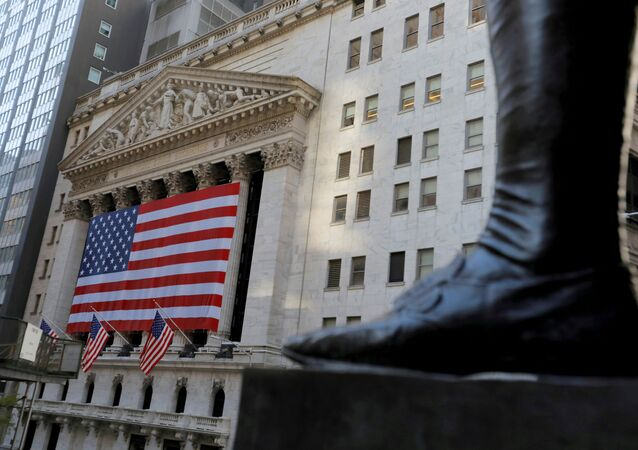 The boot on the statue of George Washington, the first president of the United States, is seen across from the New York Stock Exchange (NYSE) following Election Day in Manhattan, New York City, U.S., November 4, 2020.