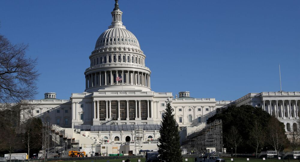 Construction for the upcoming presidential inauguration ceremony is seen outside of the U.S. Capitol Building in Washington, U.S., December 28, 2020.