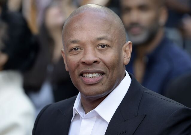 This Nov. 27, 2018 file photo shows music producer and entrepreneur Dr. Dre at a hand and footprint ceremony honoring Quincy Jones in Los Angeles