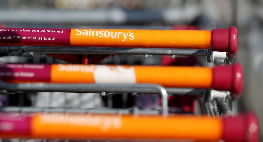 Shopping trolleys outside a Sainsbury's supermarket in Durham, as the spread of the coronavirus disease (COVID-19) continues, Durham, Britain, 8 April 2020