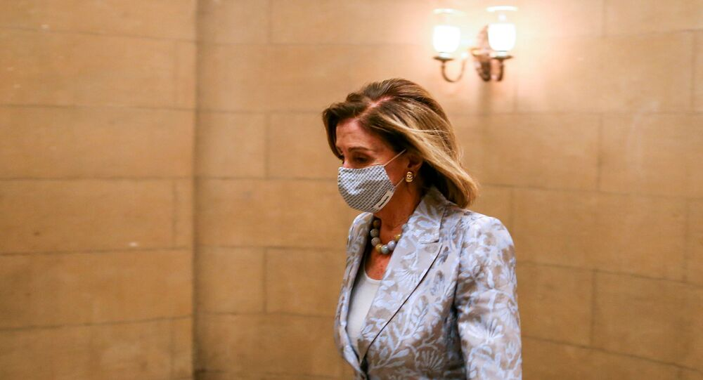 Speaker of the House Nancy Pelosi (D-CA) walks to the House chamber in the U.S. Capitol in Washington, DC, U.S., January 3, 2021.