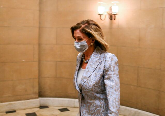 Speaker of the House Nancy Pelosi (D-CA) walks to the House chamber in the U.S. Capitol in Washington, DC, U.S., January 3, 2021.