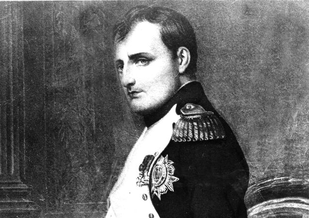 Napoleon Bonaparte, emperor, statesman and military leader of France, is depicted in this portrait by French painter Paul Delaroche