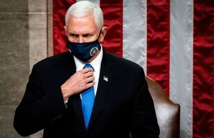 Vice President Mike Pence presides over a Joint session of Congress to certify the 2020 Electoral College results after supporters of President Donald Trump stormed the Capitol earlier in the day, on Capitol Hill in Washington, U.S. January 6, 2021. Erin Schaff/Pool via REUTERS