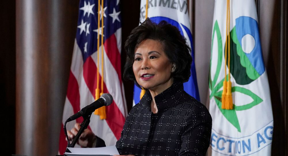 U.S. Department of Transportation Secretary Elaine Chao speaks during a press conference in Washington, U.S., September 19, 2019