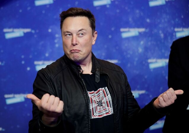 SpaceX owner and Tesla CEO Elon Musk grimaces after arriving on the red carpet for the Axel Springer award, in Berlin, Germany, December 1, 2020.