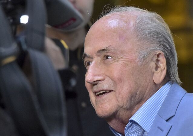 In this file photo dated Tuesday, June 19, 2018, former FIFA President Joseph Blatter in Moscow, Russia.