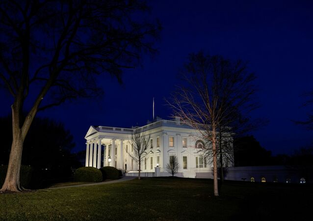 The White House is lit at dusk, the day after supporters of U.S. President Donald Trump stormed the U.S. Capitol, in Washington, U.S., January 7, 2021.