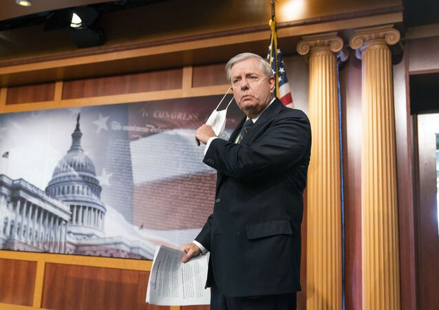 Sen. Lindsey Graham, R-S.C., speaks to reporters during a news conference at the Capitol, Thursday, Jan. 7, 2021, in Washington