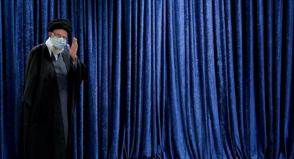 Iran's Supreme Leader Ayatollah Ali Khamenei attends to deliver a televised speech, in Tehran, Iran January 8, 2021