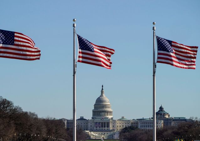 The U.S. Capitol is seen under flags flying on the National Mall days after supporters of U.S. President Donald Trump stormed the U.S. Capitol in Washington, U.S., January 10, 2021.