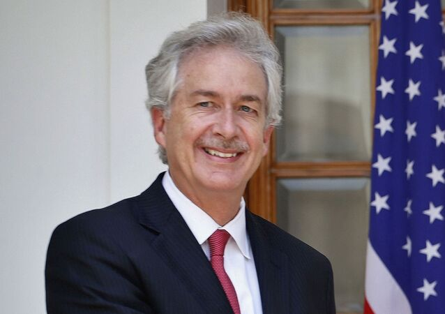 In this 10 July 2014 file photo, then US Deputy Secretary of State William Burns, is pictured in New Delhi, India.  President-elect Joe Biden has chosen the veteran diplomat to be his CIA director. Biden made the announcement on Monday.
