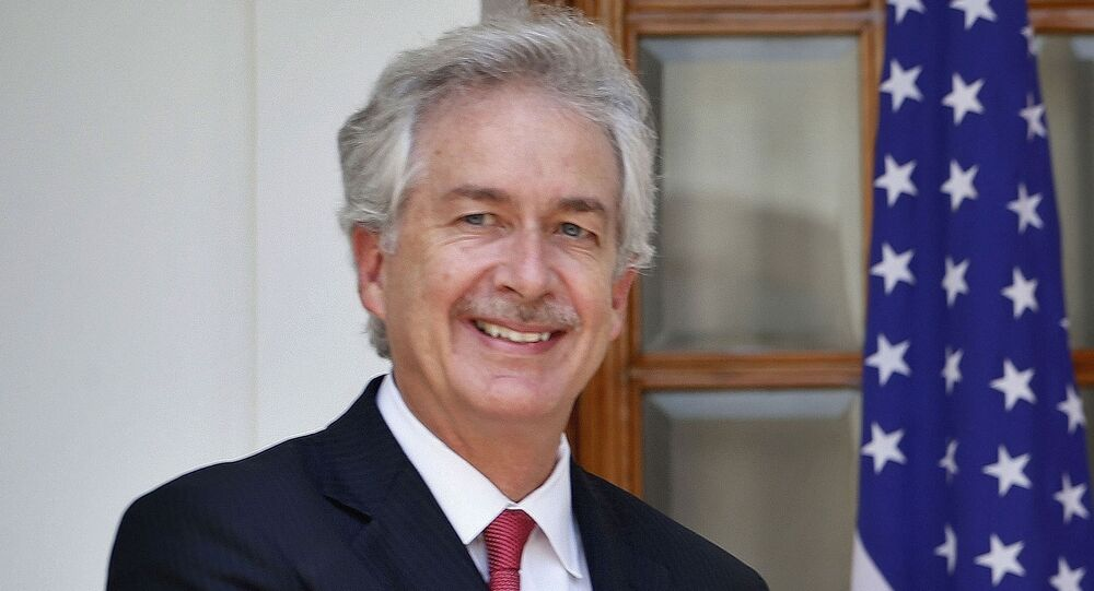In this July 10, 2014 file photo, then U.S. Deputy Secretary of State William Burns, is shown in New Delhi, India.  President-elect Joe Biden has chosen veteran diplomat William Burns to be his CIA director. Biden made the announcement on Monday.