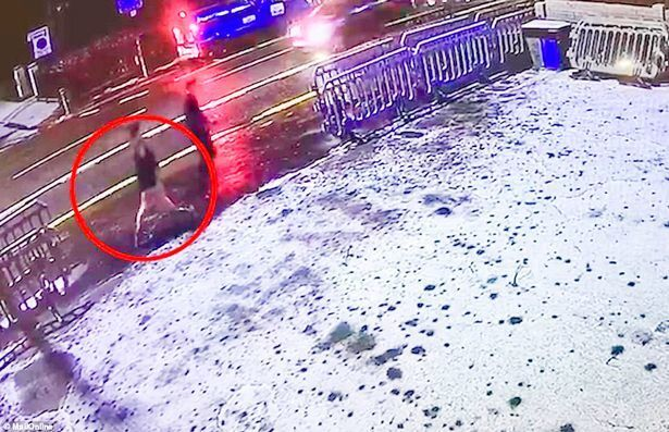 Libby Squire (circled) is pictured on the night she went missing in the winter of 2019