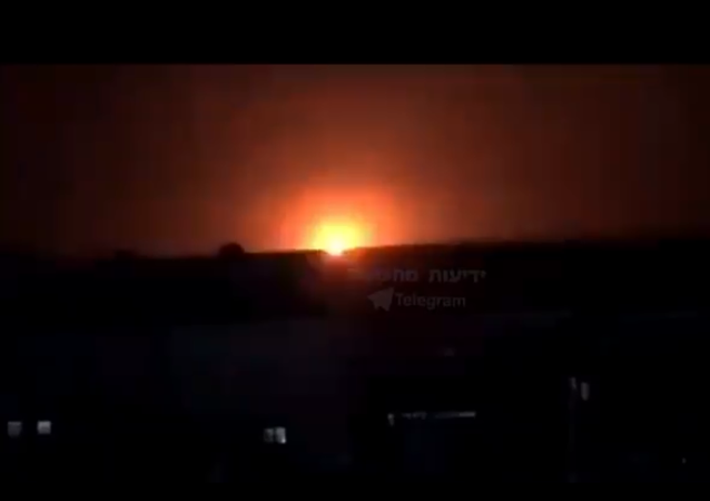 Screenshot from the video allegedly showing aftermath of the Israeli attacks in the area of Deir Ezzor and Abu Kamal, Syria