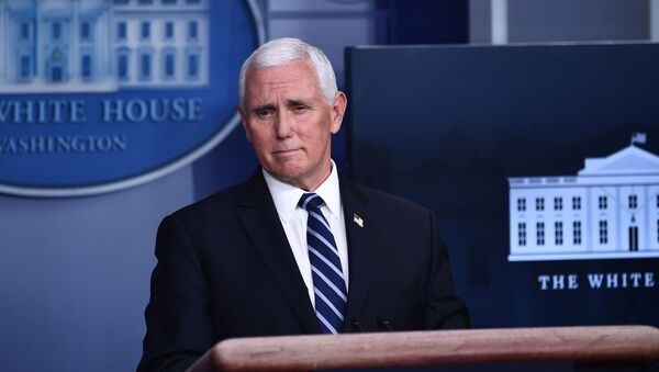In this file photo taken on November 19, 2020 Vice President Mike Pence speaks during a White House Coronavirus Task Force press briefing in the James S. Brady Briefing Room of the White House. - US Vice President Mike Pence on January 12, 2021, told House leaders he does not support invoking the 25th Amendment process to remove Donald Trump, all but guaranteeing an imminent impeachment vote against the president. (Photo by Brendan Smialowski / AFP) - Sputnik International