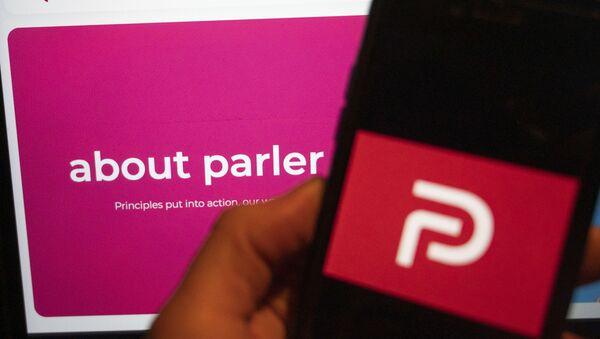 The logo of the social media platform Parler is displayed in Berlin, Jan. 10, 2021 - Sputnik International
