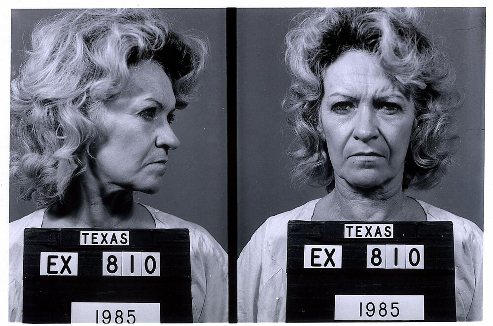 This Texas Department of Criminal Justice 1985 file photo released on 10 February 2000, shows convicted murderer Betty Lou Beets, 62, who was executed on 24 February 2000. Beets was condemned to death for the 1985 murder of her fifth husband.