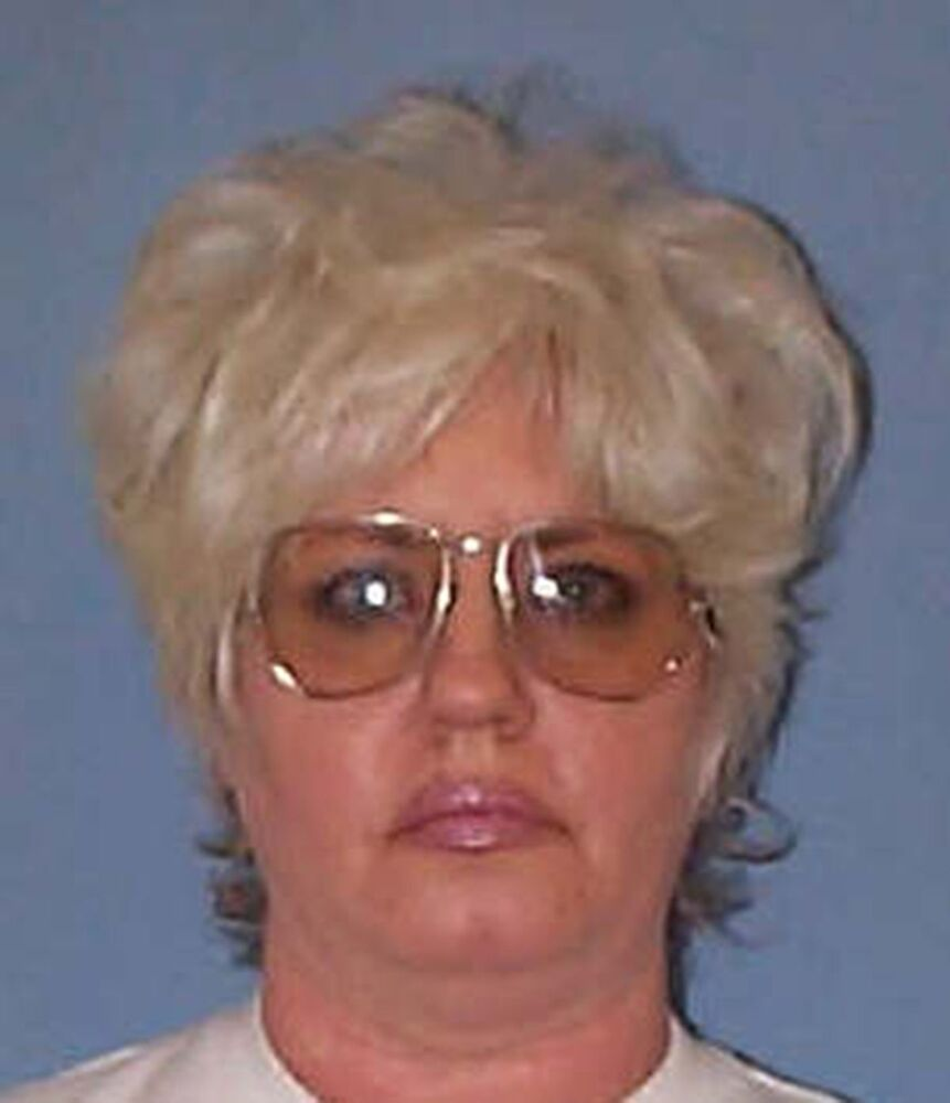 Undated file photo provided on 9 May 2002 by the Alabama Department of Corrections shows Lynda Lyon Block, a 53-year-old woman convicted of the 1993 murder of a police officer and the first woman subjected to capital punishment in the southern US state since 1957.