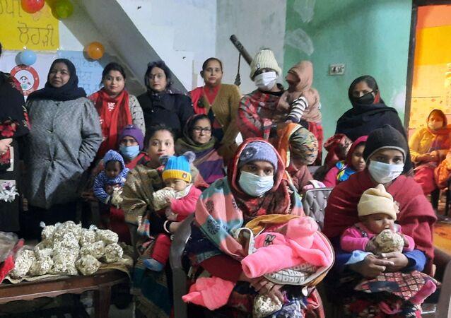 Women who bore daughters gather to Celebrate Lohri organised by activist Dr Tamanreet Kaur In Jalandhar