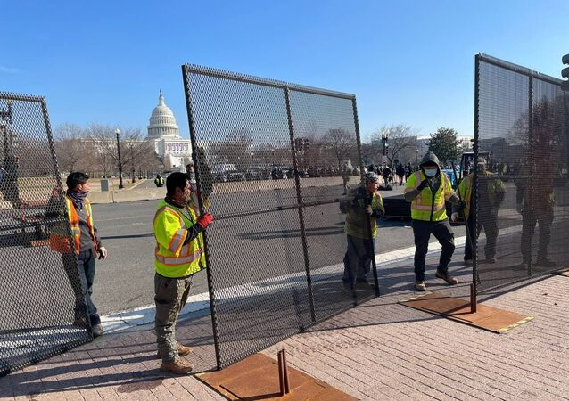 Extra layers of defense are hastily erected around the US Capitol where impeachment hearings are underway on Wednesday, a week after President Donald Trump's loyalists stormed the building in a desperate attempt to overturn the incumbent's defeat