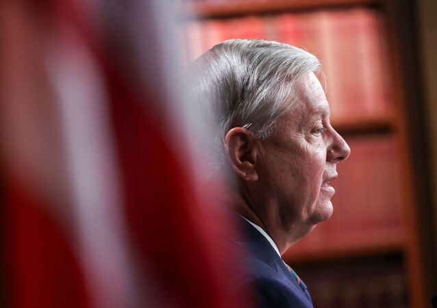 U.S. Senator Lindsey Graham (R-SC) attends a news conference