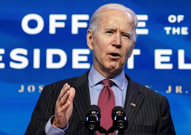 U.S. President-elect Joe Biden speaks as he announces members of economics and jobs team at his transition headquarters in Wilmington, Delaware, U.S., January 8, 2021