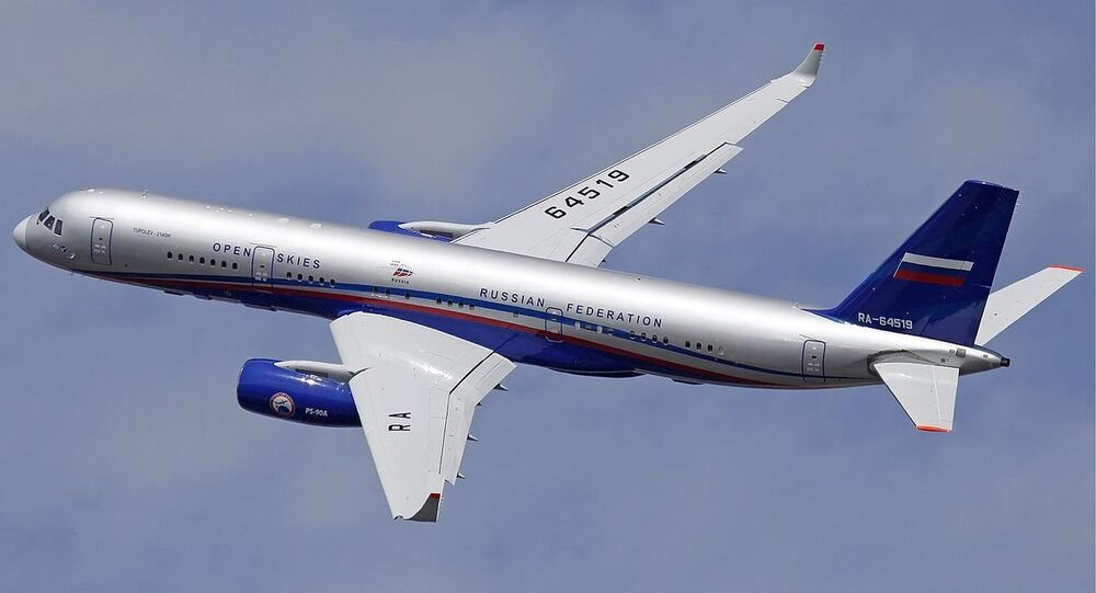 Russian Air Force Tupolev Tu-214ON which will be operated under the Open Skies treaty