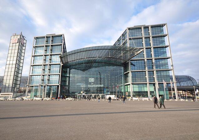 Berlin Hauptbahnhof (Berlin Central Station).