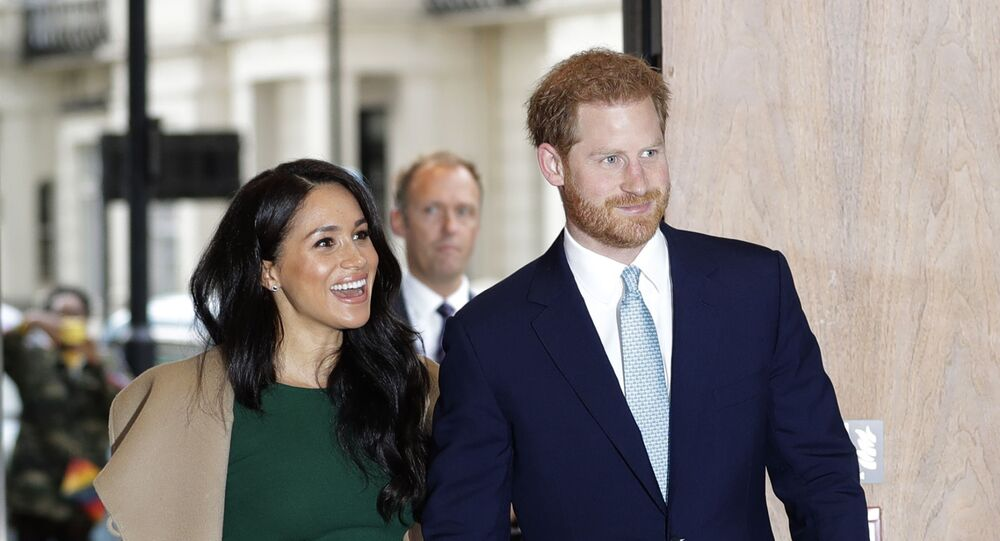 Britain's Prince Harry and Meghan, the Duke and Duchess of Sussex arrive to attend the WellChild Awards Ceremony in London, Tuesday, 15 October 2019.
