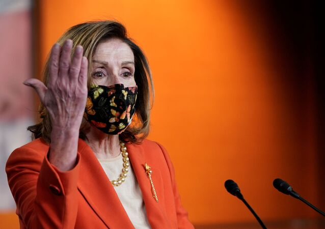 US House Speaker Nancy Pelosi (D-CA) attends her weekly news conference at the US Capitol in in Washington, DC, 15 January 2021
