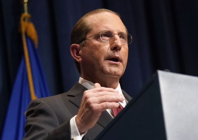 Health and Human Services Secretary Alex Azar speaks during a news conference on Operation Warp Speed and COVID-19 vaccine distribution, Tuesday, Jan. 12, 2021, in Washington