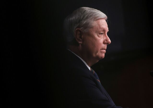 U.S. Senator Lindsey Graham (R-SC) attends a news conference a day after supporters of U.S. President Donald Trump occupied the Capitol building, in Washington, U.S. January 7, 2021