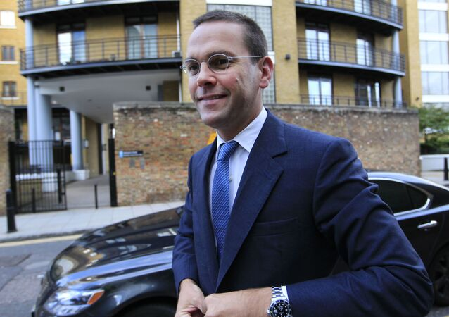 Chief executive of News Corporation Europe and Asia, James Murdoch arrives at News International headquarters in London, Tuesday, July 19, 2011. Rupert Murdoch, his son James and the media mogul's former top U.K. newspaper chief, Rebekah Brooks, face a grilling from lawmakers Tuesday about the intensifying phone hacking scandal, which has spread from their media empire, to the top ranks of the police and even the British prime minister's office.