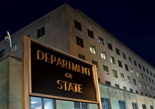 The US State Department is seen on November 29, 2010 in Washington, DC. Top US diplomat Hillary Clinton accused WikiLeaks of an attack on the world, as key American allies were left red-faced by embarrassing revelations in a vast trove of leaked memos. In a lengthy statement, the secretary of state attempted damage limitation as she told reporters the United States deeply regrets the release of the 250,000 diplomatic cables, all apparently from the State Department.