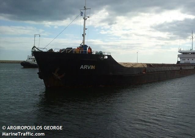 Arvin, the dry cargo vessel reported to have sunk in the Black Sea off the coast of Turkey on 17 January, 2020.