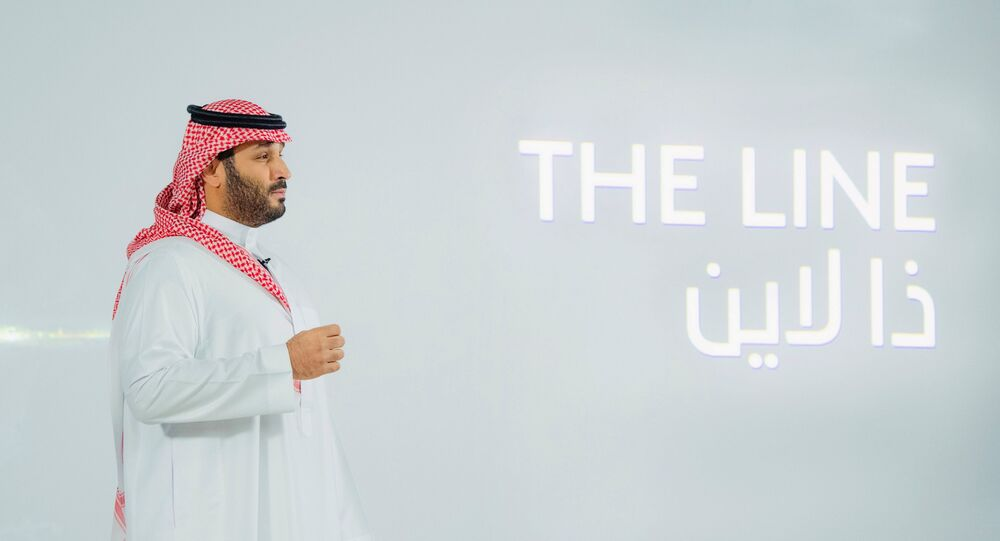 Saudi Crown Prince Mohammed Bin Salman announces a zero-carbon city called The Line to be built at NEOM in northwestern Saudi Arabia, January 10, 2021.