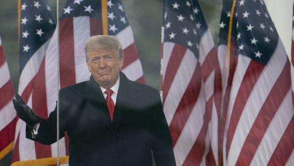 President Donald Trump arrives to speak at a rally protesting the electoral college certification of Joe Biden as President, Wednesday, Jan. 6, 2021, in Washington.  - Sputnik International
